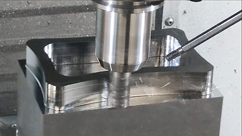 Dynamic milling 1018 steel with indexable tooling