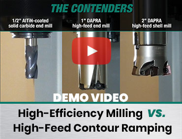 Video: High-Efficiency Milling vs. High-Feed Contour Ramping