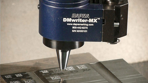 CNC direct part marking tool demo
