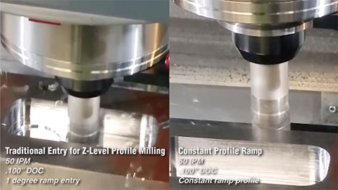 Constant Profile Ramping vs. Standard Z-Level Profiling
