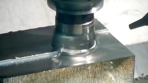 90-degree Face Milling Stainless Steel with a Square Shoulder Shell Mill