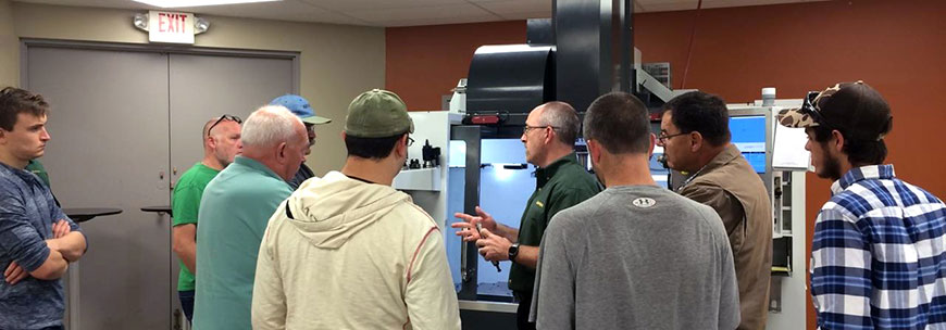 Technical milling training at Dapra's Midwest Tech Center