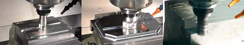 Square Shoulder 90-degree milling demo videos
