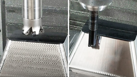 High-Feed Ramp with a Button Cutter, Plunge Finish with Bull Nose